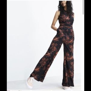 Madewell x No 6 Isabella Silk Jumpsuit In Floral